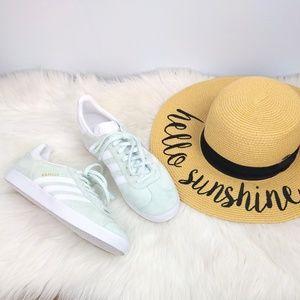 Adidas Gazelle Mint Suede White Mens 9 Women's 11
